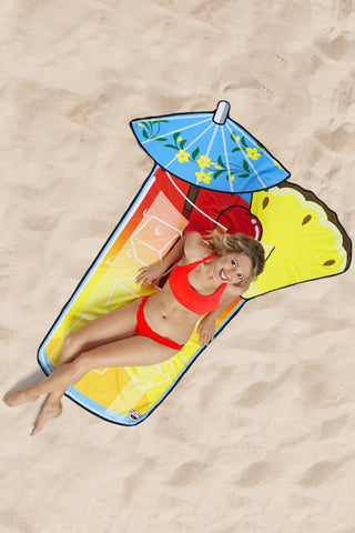 Big Mouth Tropical Drink Beach Towel