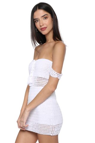 Darah Dahl Isabel Crochet Mini Dress