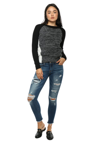 Flying Monkey Distressed Patched Skinny