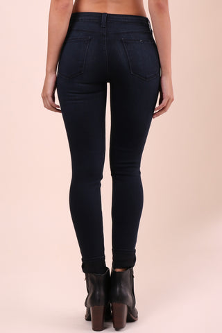 Just Black Dark Hi Rise Super Skinny Jeans