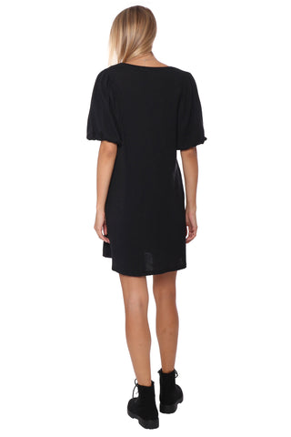 Jac Parker Puff Sleeve Everyday Dress