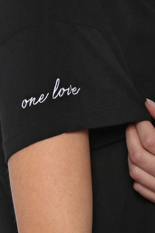 Good hYOUman One Love Drop Shoulder Tee