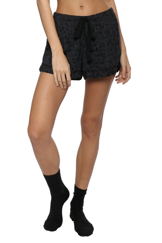 Rails L/S Short Set PJ - Onyx Cheetah