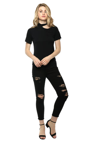 Jac Parker Ripped Neck Tee
