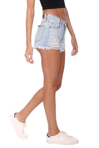 Hidden Light Wash Classic Mid Rise Shorts