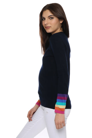 WYSE Ines Rainbow Cuff Sweater