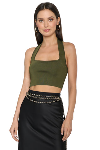 Brookyln Karma Halter Knit Crop Top