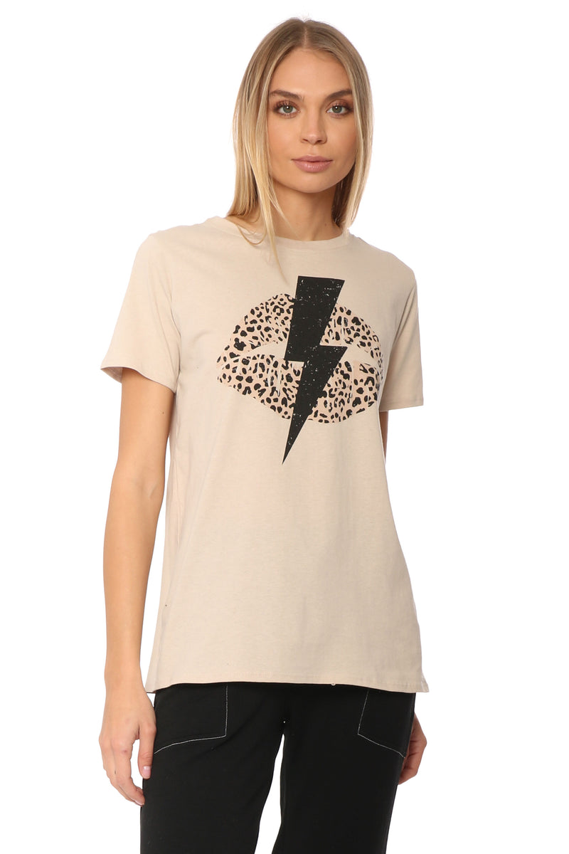 Cheetah Lip Bolt Tee