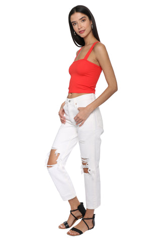 Suzette Square Neck Crop Top