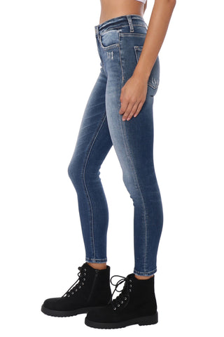 Flying Monkey High Rise Ankle Skinny Jeans Wild Card