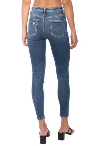 Flying Monkey High Rise Distressed Ankle Skinny Jeans