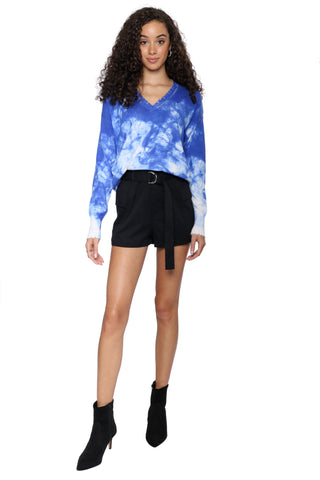 Decker Luxe Tie Dye V-Neck Sweater