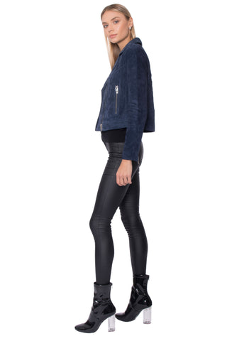 Navy Yard Suede Jacket