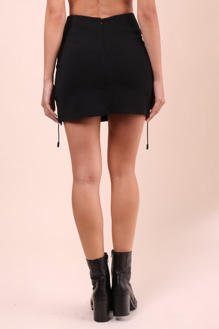 Brooklyn Karma Double Cross Mini Skirt
