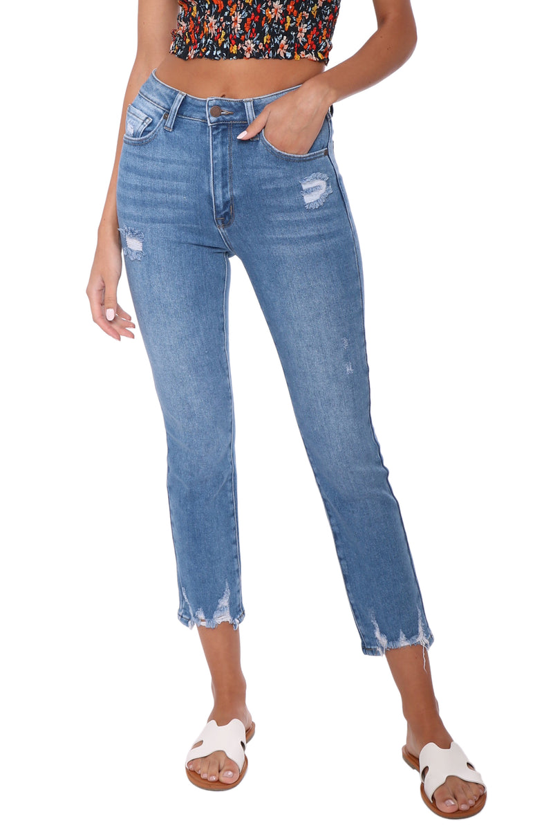 Just Black High Rise Straight Jeans