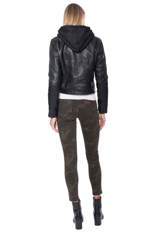 Blank NYC Night Rider Hooded Leather