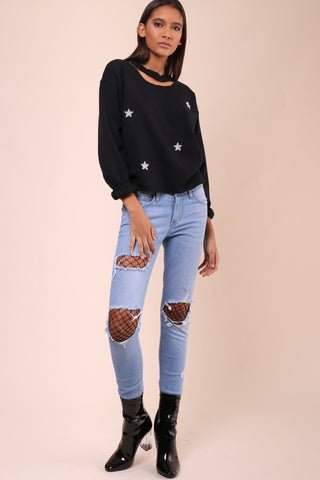 JET x Mixology Stars Cut Sweatshirt