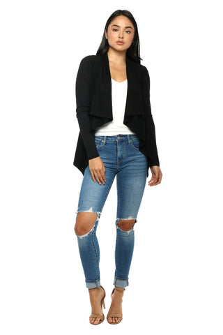 Z Supply The Suede Waterfall Cardi