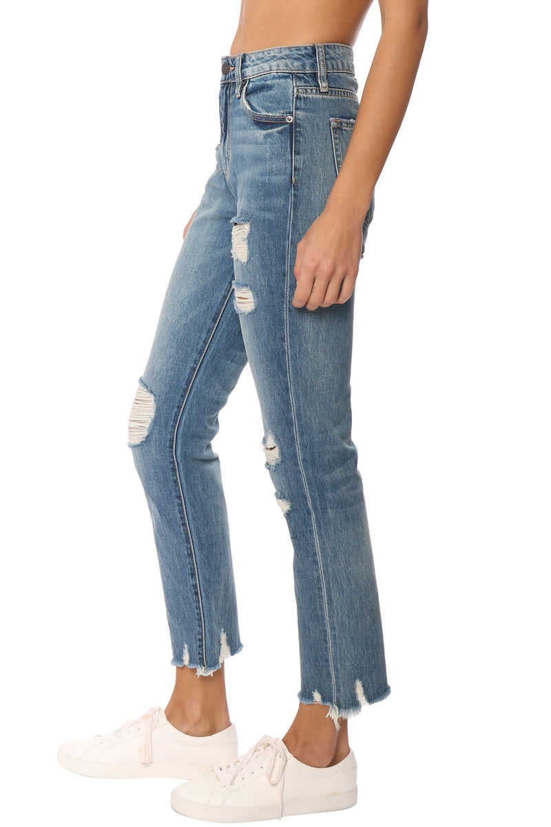 Tracey High Rise Straight Crop Jeans