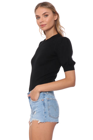 Robertson & Rodeo Puff Sleeve Ribbed Sweater