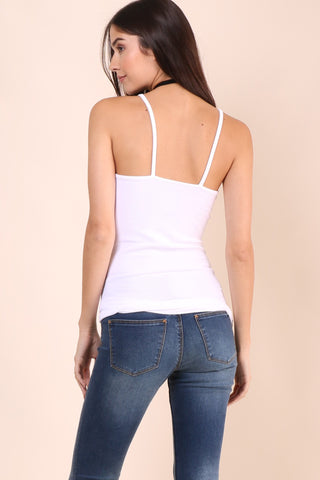 Suzette V-Neck Cami - White