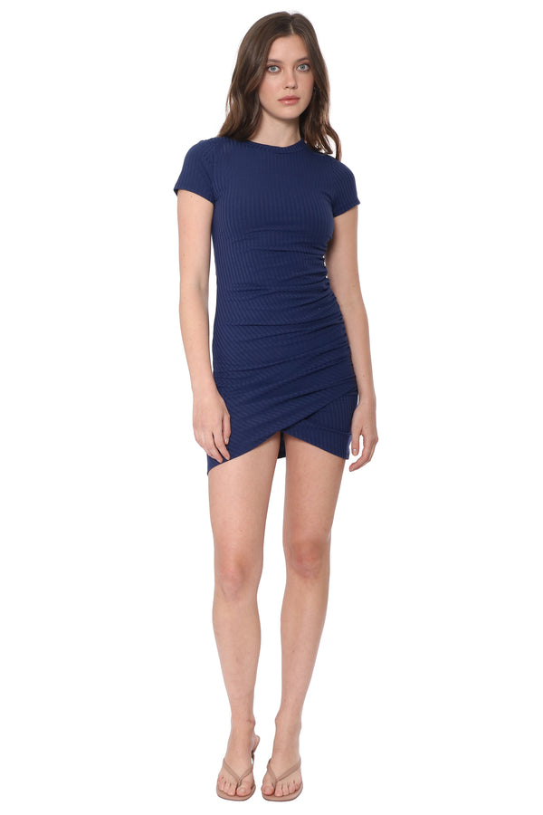 Lorena Shirred Short Sleeve Dress
