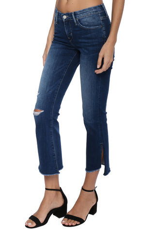 Flying Monkey MR Side Slit Crop Flare Jeans