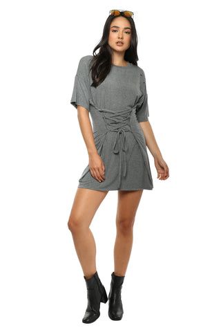 Brooklyn Karma Distressed Corset Tee Dress