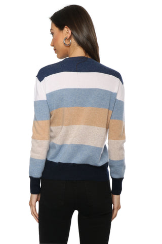 Decker Luxe Stripe Cashmere Sweater