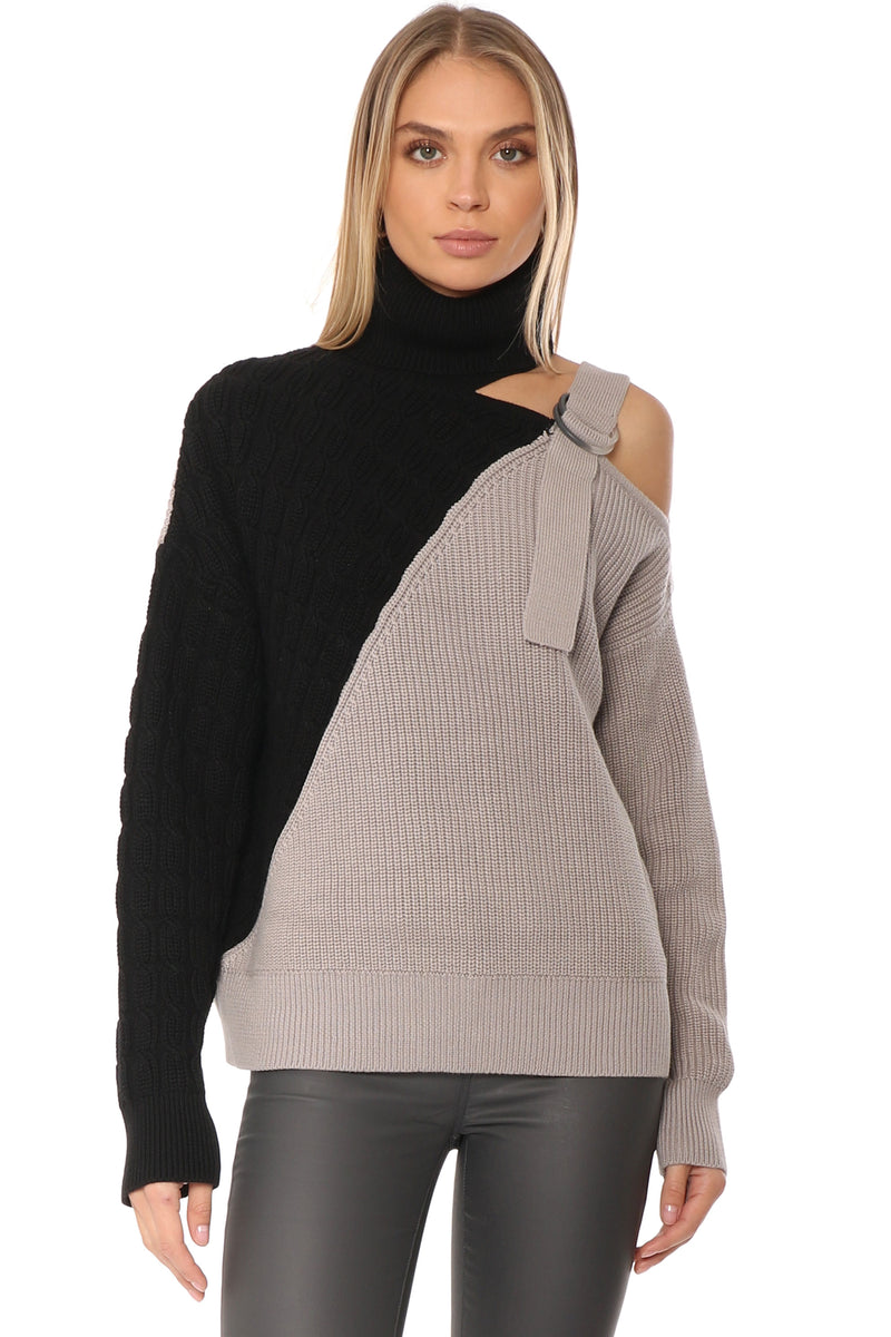Cold Shoulder Strap Pullover