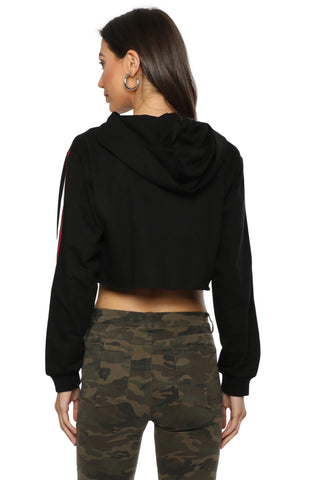 Brooklyn Karma Roll With Me Crop Hoodie