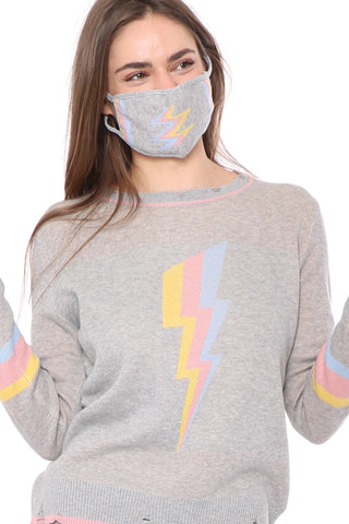 Gab & Kate Bolt Out Sweater With Mask