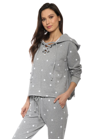 Brooklyn Karma Star Lace Up Pullover
