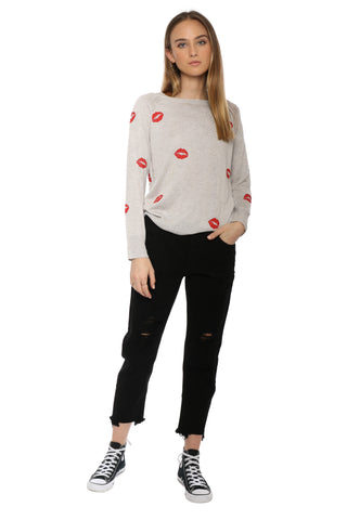 Decker Lips Crew Neck Sweater