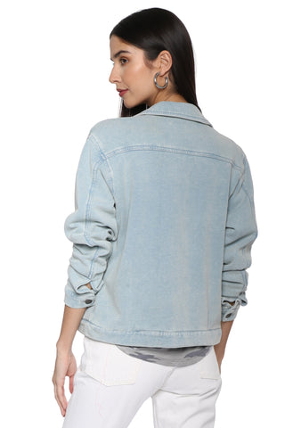 Z Supply The Knit Denim Jacket
