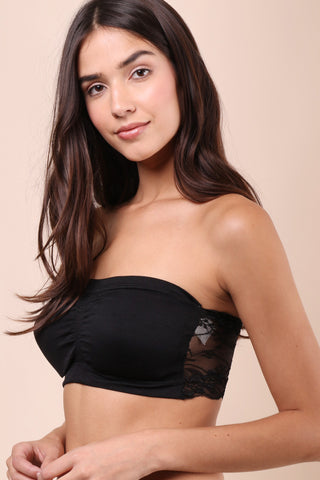 Suzette Lace Back Bralet - Black