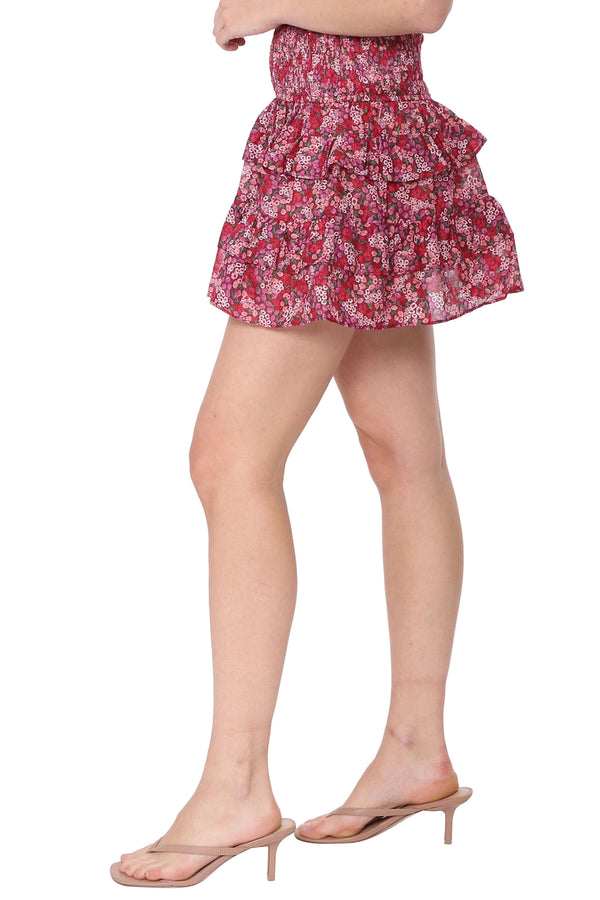 Raspberry Fields Smocked Skirt