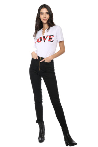 Jet x Mixology Stripe Love Cut Neck Tee