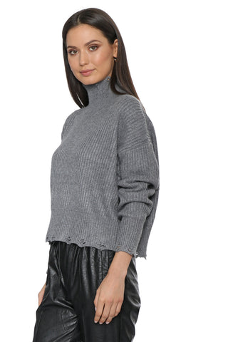 Decker Distressed Oliva Sweater