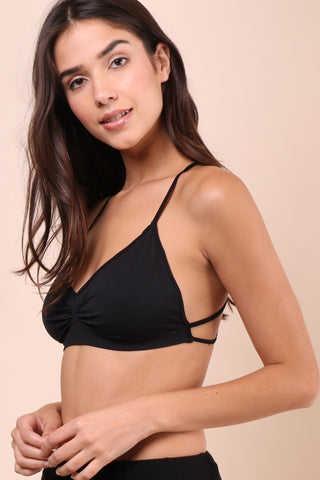 Suzette Strappy Back Bralet - Black