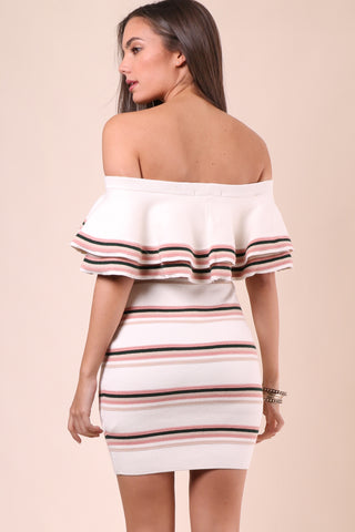 Gab & Kate Off The Shoulder Layered Dress