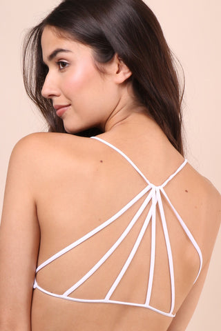 Suzette Strappy Back Bralet - White