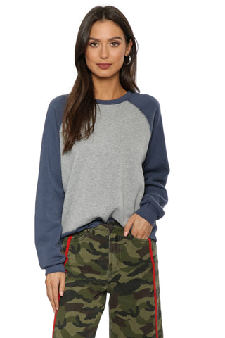 Project Social T Blocked Heathered Sweatshirt