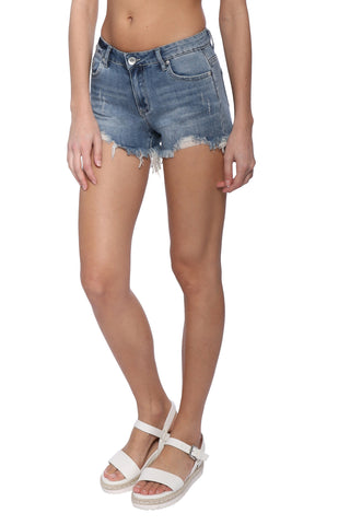 Tractr Blu 5 Pocket Destructed Hem Shorts