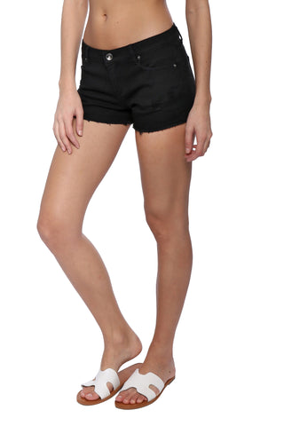 Tractr Blu 5 Pocket Basic Fray Hem Shorts