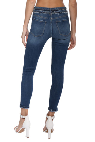 Vervet MR Double Button Ankle Skinny