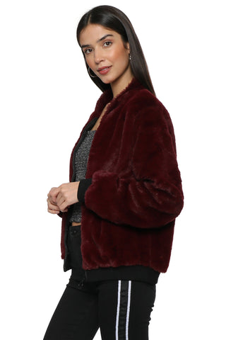 Brooklyn Karma Faux Fur Bomber Jacket