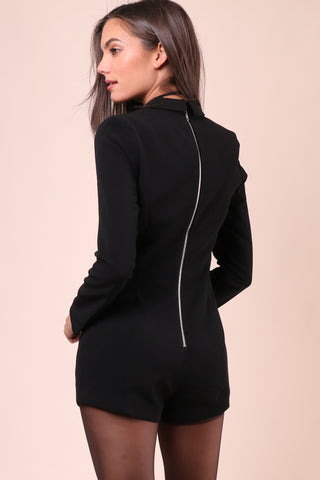 Decker Faux Placket Romper