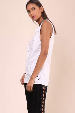 Jonathan Saint Star Studded Muscle Tee