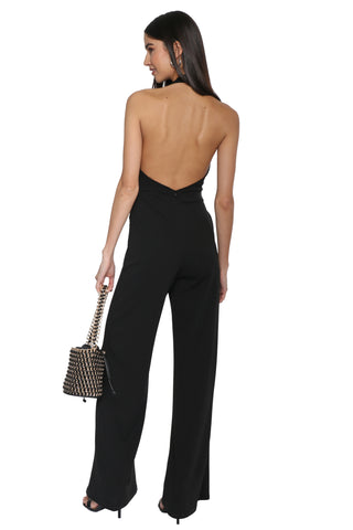 Robertson & Rodeo Halter Belted Jumpsuit